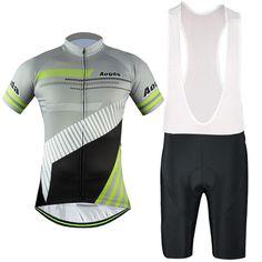 Men s Blue Green Short Sleeve Cycling Jersey Set  Cycling ... 1be60f493