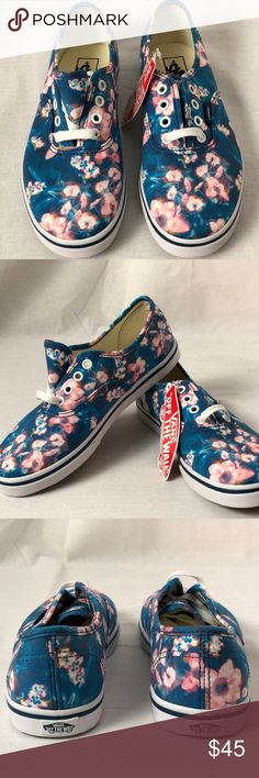 Vans Authentic Kids Lo Pro Blurred Floral Poseidon Vans Authentic Kids Lo  Pro Blurred Floral Poseidon. Condition  New with box. Size   Youth 2.5 Vans  Shoes ... 70ef5ce899a