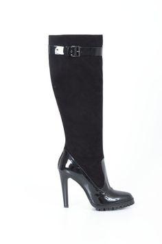 #DEL GATTO #boots rubber detail #black #shopatvoi now $280.00