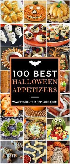 100 Best Halloween Party Appetizers #Halloween #HalloweenParty #HalloweenFood #HalloweenPartyFood #Party #Recipes #Appetizers #Recipes