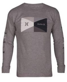 4719e7be621 Hurley Men s Breakout Graphic Long-Sleeve T-Shirt Men - T-Shirts - Macy s