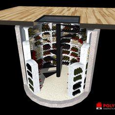Staircase Drawing, Staircase Design, Small Kitchen Storage, Wine Storage, Caves, Spiral Wine Cellar, Home Wine Cellars, Wine Cellar Design, Home Bar Designs