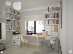 Gabinet styl Skandynawski - zdjęcie od A1Studio - Gabinet - Styl Skandynawski - A1Studio