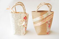 cutest mini gift bags (maybe for those mini notebooks!)
