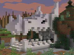 I made a dragon skull cave entrance - Minecraft Minecraft Kingdom, Minecraft Castle, Minecraft Plans, Minecraft Tutorial, Minecraft Blueprints, Minecraft Projects, Minecraft Crafts, Minecraft Houses Survival, Minecraft Banner Designs