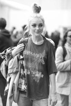 top bun #grunge #punk #indie #style #fashion