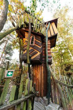 Kulturinsel Einsiedel Treehouse Hotel, Neisseaue OT Zentendorf, Germany.