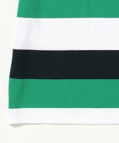【BEAMS GOLF PURPLE LABEL / ビッグボーダー ポロシャツ】素材はBEAMSGOLFオリジナルの吸水速乾性を持った鹿の子の…