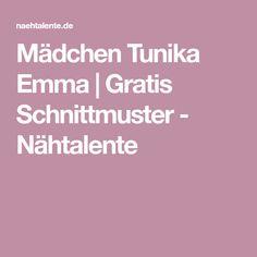 Mädchen Tunika Emma | Gratis Schnittmuster - Nähtalente