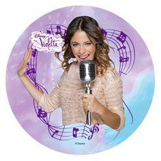 Violetta : Cialda in pasta di zucchero Violetta 3 Modecor D.22cm