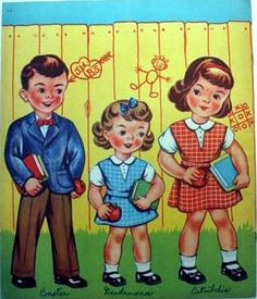 OUR PAPER DOLLS GO TO SCHOOL