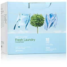 Fresh Laundry Concentrate  You know the deliciousness of clean clothes right out of the wash? Fresh Laundry takes it to the next level. The natural enzyme formula leaves clothes extra clean while being gentle on the planet. Which means you can bury your nose in a pile of clean laundry and breathe a little easier.