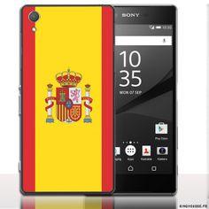 Etui Xperia Sony Z5 Drapeau Espagne - Coque Rigide. #SonyXperia #Z5 #Drapeau #Espagne