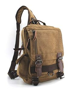 Jiao Miao Canvas Shoulder Backpack Travel Rucksack Sling Bag Cross Body Messenger ** Learn more by visiting the image link. (This is an affiliate link) Canvas Messenger Bag, Messenger Bag Men, Canvas Backpack, Canvas Laptop Bag, Rucksack Backpack, Travel Backpack, Travel Bags, Small Backpack, Shoulder Backpack