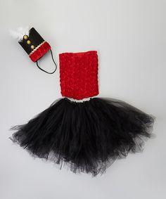 Love this Red & Black Nutcracker Dancer Tutu Set - Girls on #zulily! #zulilyfinds