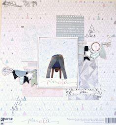 "Layout con papeles de ""Pirueta"" de Escrap por Lidia del DT #DTEscrap #pirueta Escrap #escrap #scrapbooking"