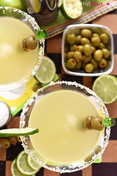 Like a margarita on the rocks with a splash of olive juice, this Mexican Martini is a copycat recipe of the famous cocktail from Trudy's in Austin. Mexican Martini Recipe, Best Martini Recipes, Margarita Recipes, Cocktail Recipes, Drink Recipes, Cocktail Drinks, Margarita On The Rocks, Perfect Margarita, Summer Drinks