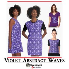 Ultra Violet Abstract Waves Fashion by #Gravityx9 at #Redbubble ~ Scarves, Leggings, Skirts, Shirts, Dresses and more fashion for Men and Women! Curls, texture and shadows of Four shades of the Pantone Color of the Year for 2018 : Ultra Violet. #ultraviolet #purple #womensfashion #fashion #womenswear #purplefashion #violet #violetfashion #pantone #pantone2018