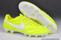 4b227024794 Nike The Premier FG Cleats Fluorescent yellow white Online White Nikes