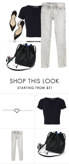 """""""Simple"""" by fanfanfanfannnn ❤ liked on Polyvore featuring T By Alexander Wang, True Religion, WithChic and NYX"""