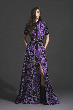 Yumi Lambert for the Fausto Puglisi Womenswear Pre-Fall 2014 Collection