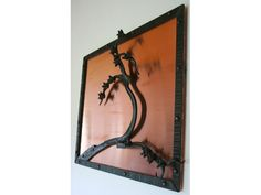 Michael Budd - Copper Steel Blossom Steel Sculpture, Candle Sconces, Wall Lights, Copper, Candles, Home Decor, Appliques, Decoration Home, Room Decor