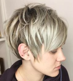Tousled Short Cut For Fine Hair