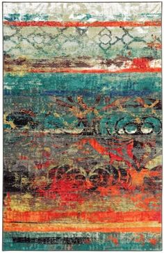 """Mohawk Home Multi Strata Eroded Color rug - Contemporary Rectangle 7' 6"""" x 10'"""