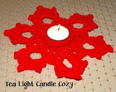 Crochet Tea Light Candle Cozy With Video, http://crochetjewel.com/?p=16550