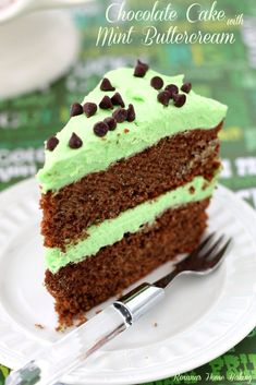 Chocolate #Cake with Mint Buttercream frosting recipe