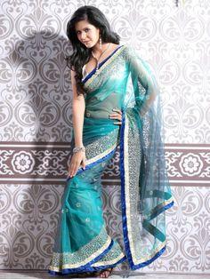 Designer Saree With Blouse - D.No.-9001