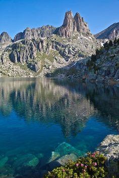 Catalonia, Aiguestortes National Park, Amitges needles and Estany Gran d'Amitges lake Pyrenees ,  Catalonia
