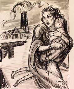 A Mother And A Child At The Barrel Of A Machine Gun