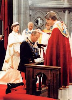 King Harald in consecrated as King of Norway.