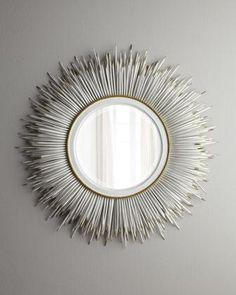 White 'Porcupine' Mirror