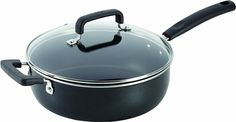 T-fal C11933 Signature Nonstick Expert Easy Clean Interior Thermo-Spot Heat Indicator Dishwasher Safe Oven Safe 10-Inch Jumbo Cooker with Glass Lid Cover Cookware, 4.2-Quart, Black *** Check this awesome product by going to the link at the image.