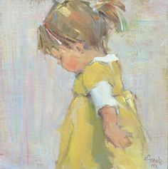 Like a portrait like this....Watch Me Go by Nancy Franke Oil ~ 12 x 12