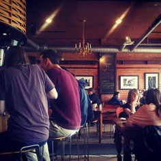 """Patrons enjoying their meals and conversations at """"The Sugarbowl"""" @sugarbowlcafe #yegfood"""