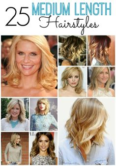 Are you thinking of cutting your hair shorter? Or you just need some ideas for your medium length hair? These 25 fabulous hairstyles will be a huge help!