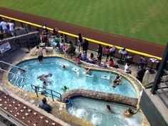 Right field pool at the AZ Dbacks Stadium.....oh yeah!