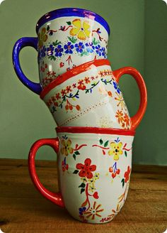 Sharpie Art Coffee Mugs inspired by Anthropologie. . . would be great to do with LEAD free mugs! Anthro's come from China :(
