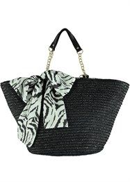 2ac6a644e56d Julien Macdonald Zebra Scarf Straw Beach Bag New Arrival Dress