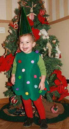 Disfraz de Arbol para las navidades