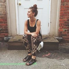 These tribal print pants are perfect for a day of running errands or at the gym!   (via @waitkristiwaite)