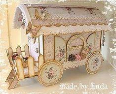 wagon. can hide a mini book inside: