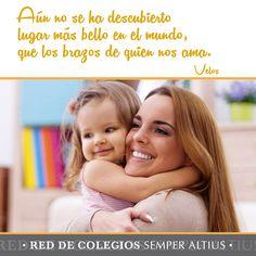 Los brazos de quien amamos... #Familia #Amor #Valores #SemperAltius #Cariño