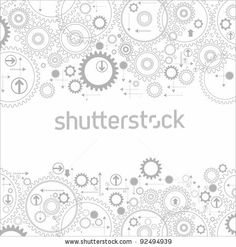 Background Consisting Of Bright Gears And Arrows.The Concept Of Motion Stock Vector 92494939 : Shutterstock