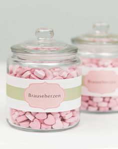 Banderolen für die Candybar - weddingstyle.de