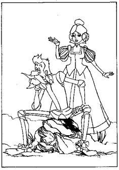 Dibujos para colorear de Don Quijote para niños