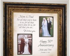 Anniversary Gift for Parents Golden Anniversary, Handmade Anniversary Gifts from PhotoFrameOriginals Custom Photo Mats - Anniversary Gift 50 Anniversary Gifts Parents Anniversary Handmade Anniversary Gifts, Anniversary Gifts For Parents, 50th Wedding Anniversary, Golden Anniversary, Anniversary Ideas, Marriage Anniversary, Thank You Gift For Parents, Wedding Gifts For Parents, Wedding Day Gifts